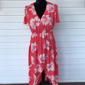 Francesca's mi ami floral wrap maxi dress size S